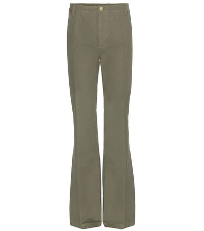 Tory Burch Cotton Trousers gray