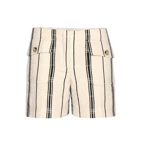 Tory Burch Edna Striped Shorts beige