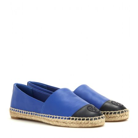 Tory Burch Leather Espadrilles blue