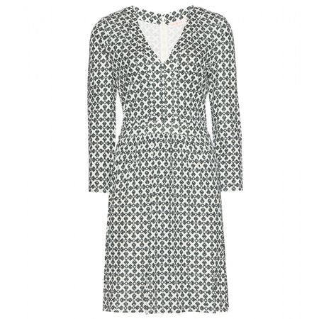 Tory Burch Matte Printed Jersey Dress gray