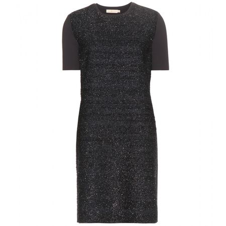 Tory Burch Metallic Jersey Dress black