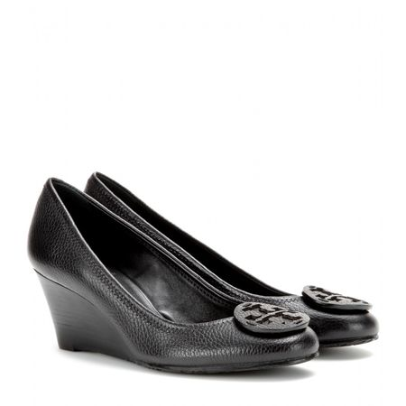 Tory Burch Sally Leather Wedges black
