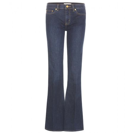 Tory Burch Skinny Flare Jeans gray