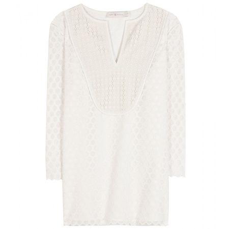 Tory Burch Tali Lace Tunic white
