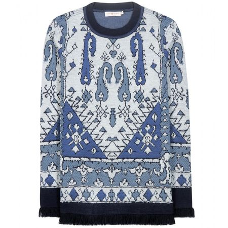 Tory Burch Wool-blend Sweater gray