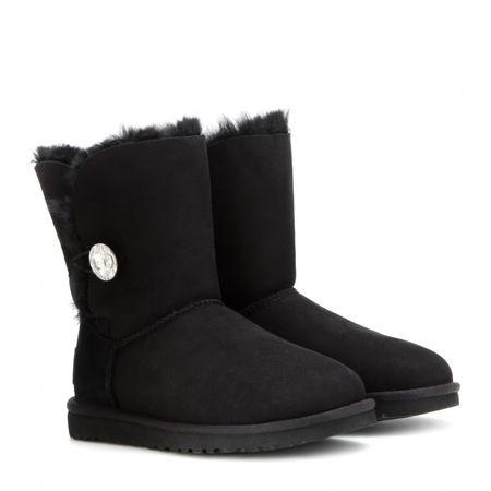 UGG Australia Bailey Button Suede Boots black