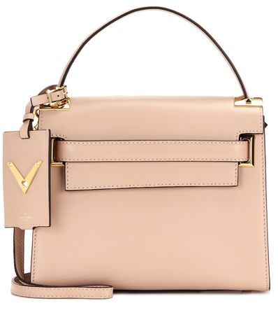 Valentino My Rockstud Leather Shoulder Bag brown