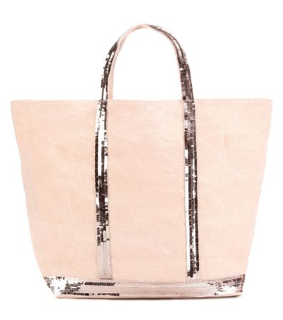 Vanessa Bruno Cabas Moyen Embellished Canvas Shopper white