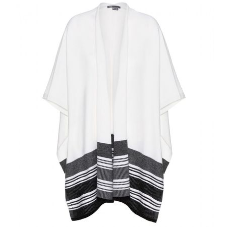 Vince Wool And Cashmere-blend Poncho white