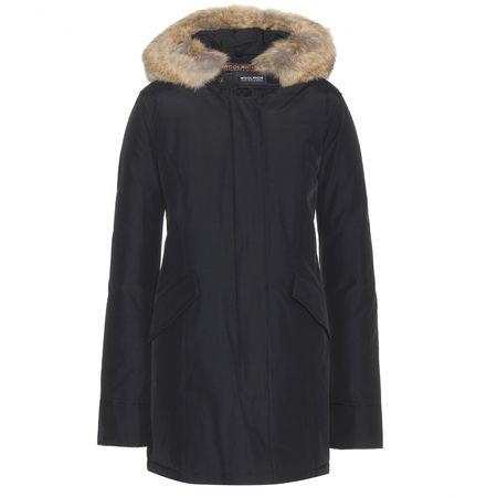 Woolrich Arctic Coat With Fur Trim black
