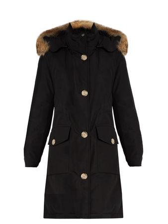 Woolrich Arctic fur-trimmed cotton-blend canvas parka