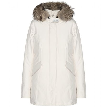 Woolrich Arctic Fur-trimmed Parka white