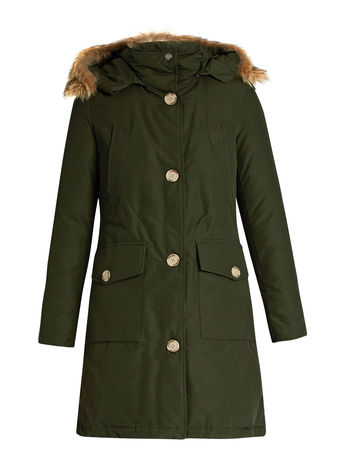 Woolrich Arctic long fur-trimmed cotton-blend canvas parka