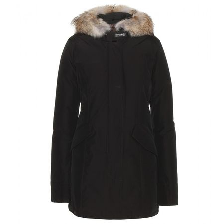 Woolrich Arctic Parker Coat With Fur Trim black
