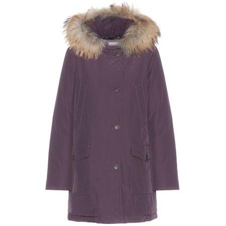 Woolrich Arctic Parker Coat With Fur Trim gray