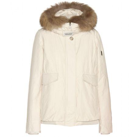 Woolrich Campton Fur-trimmed Cotton-blend Jacket beige