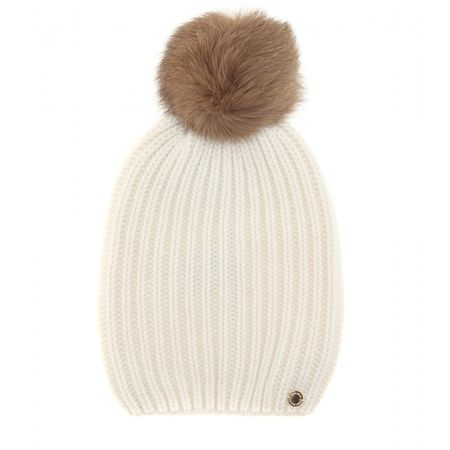 Woolrich Cashmere Hat With Fur beige