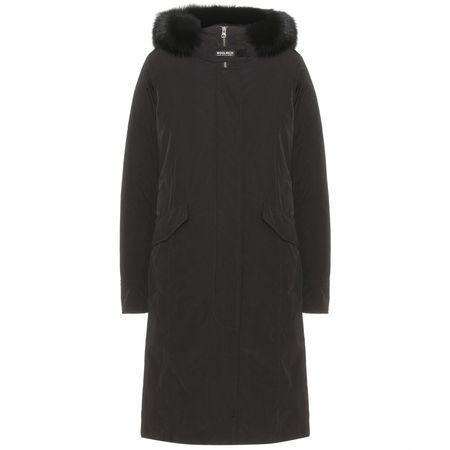 Woolrich Fur-trimmed Parker black