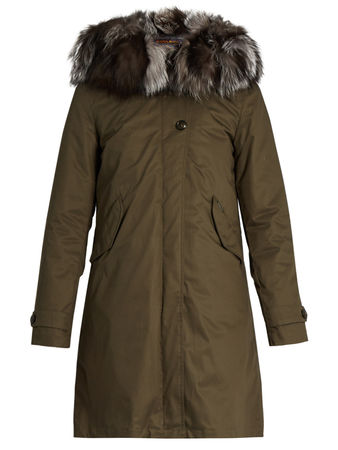 Woolrich Literary Eskimo fur-trimmed canvas parka