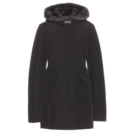 Woolrich Parka With Fur-trimmed Hood black
