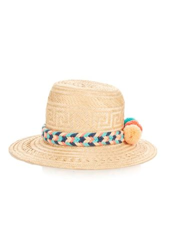 Yosuzi Sirena straw hat yellow