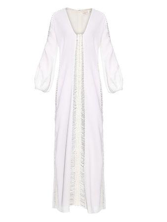 Zimmermann Arcadia braided-detailing gown white